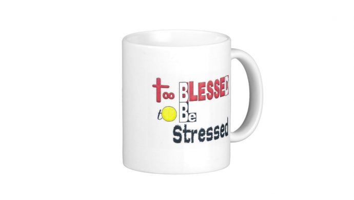 TOO BLESSED Classic White Coffee Mug